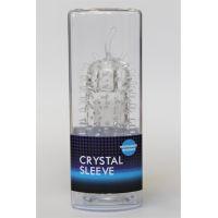 Насадка закрытая из киберкожи Максимальная стимуляция стенок влагалища Crystal sleeve с усиками