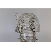 Насадка на пенис рельефная 13,5 см/2,2 см закрытая Фараон силиконовая Crystal sleeve ХИТ ПРОДАЖ