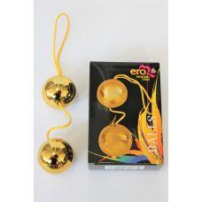 Шарики вагинальные АБС пластик Подготовка к Оргазму Balls золотые D 3,5 см L 14 см