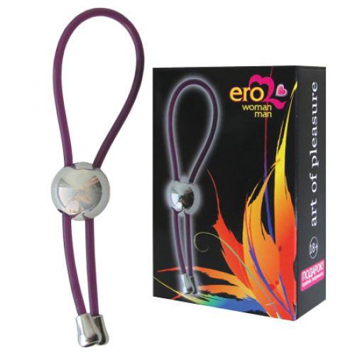 Кольцо эрекционное виниловое универсального размера Лассо фиолетовое