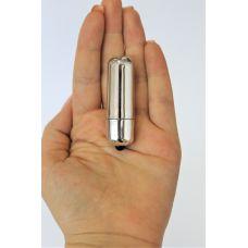 Вибропуля мини для клитора Erotic Energy серебряного цвета