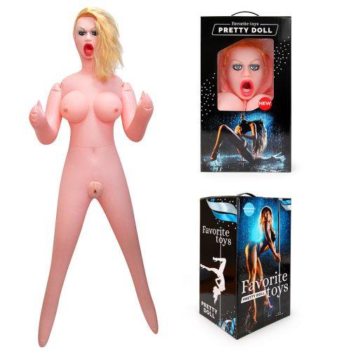 Секс кукла надувная ДИАНА для орального и вагинального секса с вибрацией рост 150 см из киберкожи ребристая (Насос в комплекте)