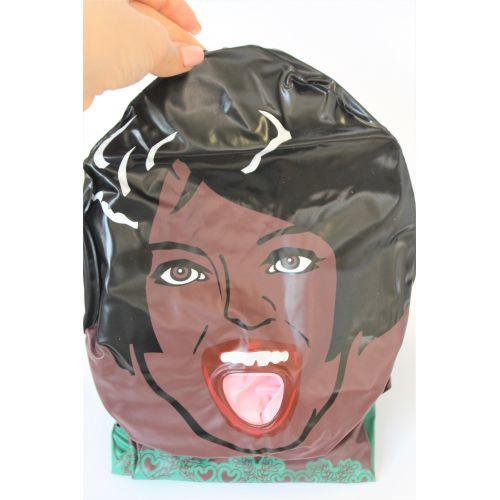 Надувная темнокожая секс кукла виниловая вагина и ротик Чернокожая Красавица Фирун рост 155 см