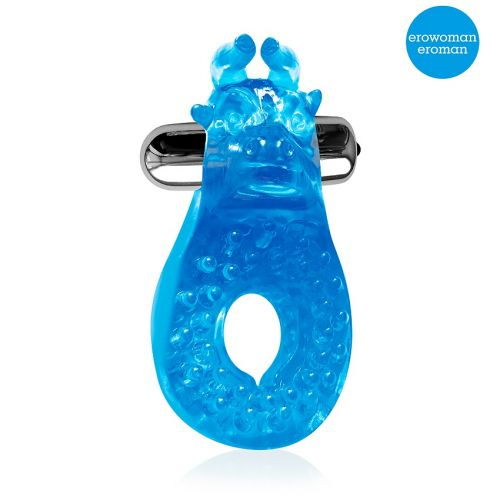 Кольцо эрекционное на член с вибрацией Синий Бык