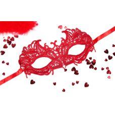 Маска интимная ажурная из текстиля АНДРЕА красная