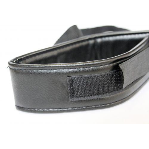 Ошейник из экокожи с мягкой подкладкой для БДСМ игр чёрный