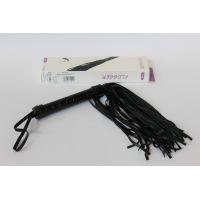 Плеть с петлей на рукояти из экокожи черного цвета EROKEY 39 см