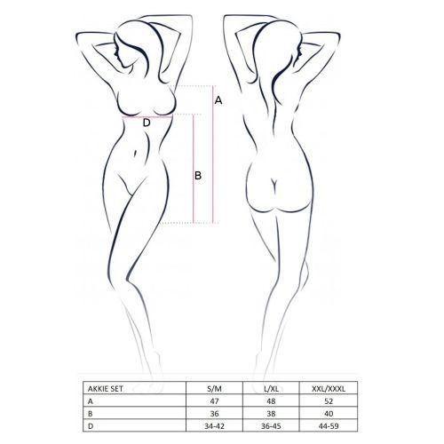 Костюм сексуальной медсестры для ролевых игр AKKIE SET white XXL/XXXL - Passion