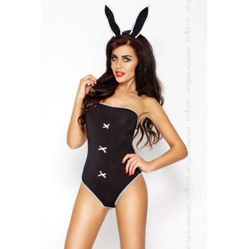 Интимный ролевой костюм кролика Playboy MAGNETICA SET black L/XL - Passion