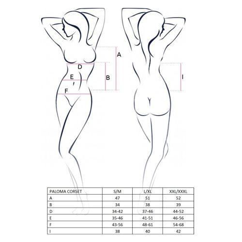 Сексуальный женский корсет PALOMA CORSET white L/XL- Passion