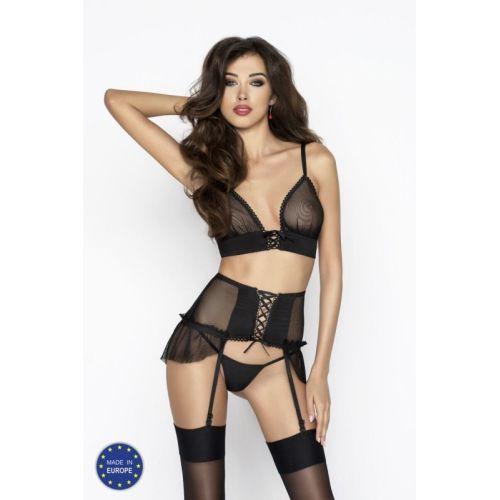 Сексуальный комплект для женщин RAMONA SET black S/M - Passion