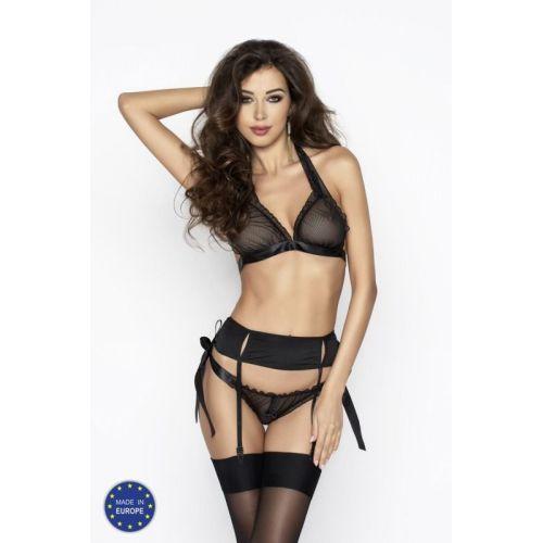 Эротический комплект для женщин ULLA SET black XXL/XXXL - Passion