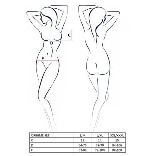 Комплект нижнего эротического белья белый ORIHIME SET XXL/XXXL Passion