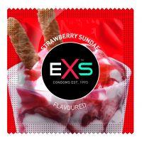 Презервативы длч оального секса со вкусом клубничного мороженного EXS по 1 шт
