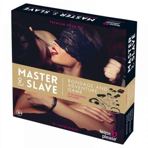 Набор БДСМ  10 предметов Master & Slave, Leopard
