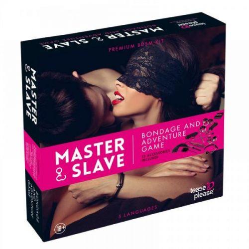 Набор БДСМ  10 предметов Master & Slave, Pink Leopard