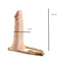 Фаллопротез поясной EGZO пустотелый страпон