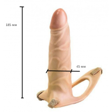 Фаллопротез поясной страпон для мужчин на ремне телесного цвета EGZO