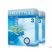 Презервативы ультратонкие FREESTYLES №3 Ultra Light с силиконовой смазкой Фристайлс