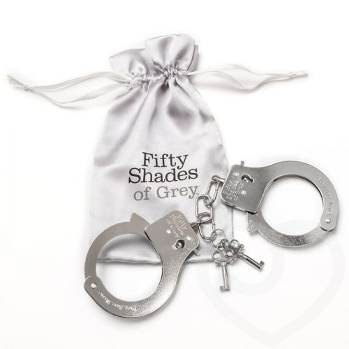 Металлические наручники для секса ТЫ МОЯ Fifty Shades of Grey