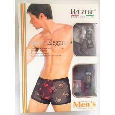 Мужские трусы-шорты  Бабочки 2шт в упаковке размер XXXL Микс цветов