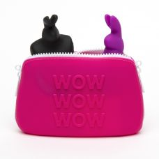Кейс для секс-игрушек WOW маленький Happy Rabbit розовый