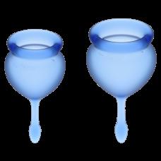 Менструальная чаша силиконовая набор Feel Good цвет синий Satisfyer (Сатисфаер)