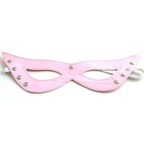 Розовая маскарадная маска для БДСМ