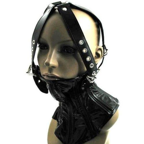 Корсет для фиксации шеи с ремнями черный для БДСМ-игры
