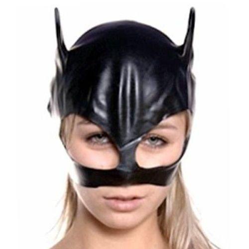 Эротическая черная маска кошки на глаза для БДСМ