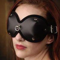 Маска черная для глаз закрытая с кольцом БДСМ