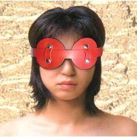 Красная маска на глаза с паетками для БДСМ-игр