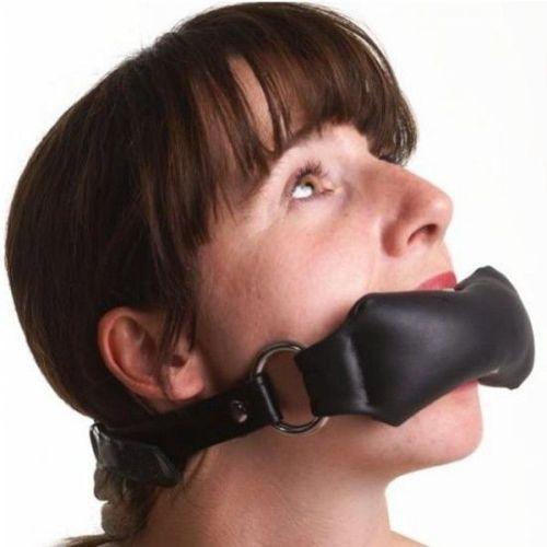 Кляп черный для рта в форме подушечки