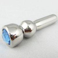 Уретральный стальной катетер с кристаллом для БДСМ ощущений