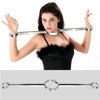 Бондажный фиксатор стальной для шеи и запястья рук