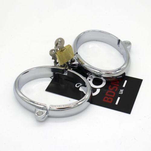 Стальные наручники BDSM-UA для БДСМ-игр