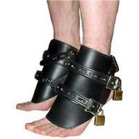 Оковы для ног кожаные черные