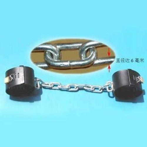 Кожаные черные наножники для БДСМ