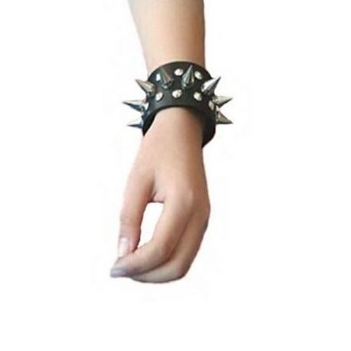 Кожаные шипованные наручники 2 шт для БДСМ