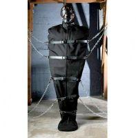 Бондаж кожаный черный Мумия для рабства в БДСМ
