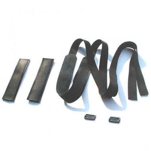 Черные кожаные ремни-фиксаторы для БДСМ-игр