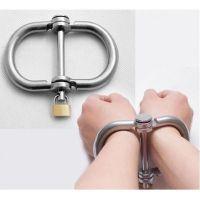 Стальные наручники для БДСМ-фиксации