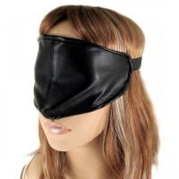 Черная повязка на глаза закрытая для БДСМ