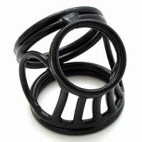 Эрекционное кольцо для пениса и яиц из латуни черный