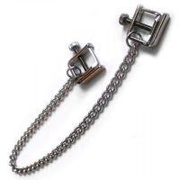 Зажимы для сосков стальные с цепью для БДСМ
