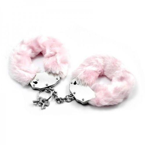 Металлические наручники с мягкими чехлами Lovetoy розовые
