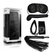 Набор для БДСМ-игр Lovetoy черный(маска,наручники,вибратор,плетка)