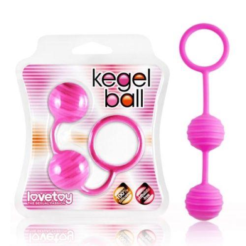 Вагинальные шарики силиконовые Lovetoy Kegel Ball розовые