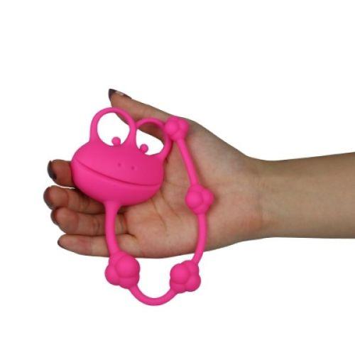 Анальная цепочка силиконовая Lovetoy розовая