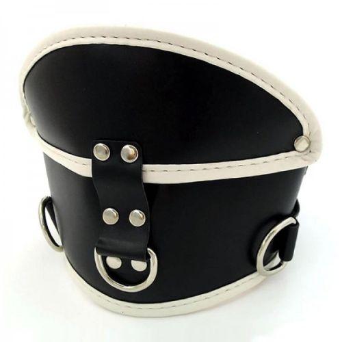 Черно-красный корсет на шею Deluxe Padded для БДСМ